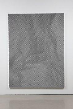 heathwest:  Tauba Auerbach1) Crumple IV, 20082) Crease I, 2008Acrylic on canvas203 x 152 x 4 cm each