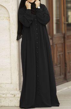 Ahsen Robalı Ferace - Siyah Source by suhneva bauer rock Hijab Fashion Summer, Abaya Fashion, Muslim Fashion, Modest Fashion, Fashion Outfits, Abaya Dubai, Hijab Style Dress, Casual Hijab Outfit, Abaya Style