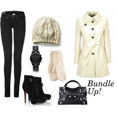 Cold weather cuties - can't do the heals, but love the white pea coat