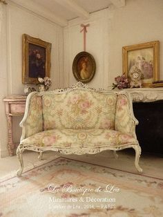 Shabby French sofa early 18 th century Louis XV by AtelierdeLea