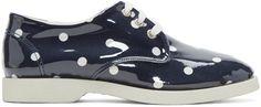 Comme des Garçons Girl. Navy & White PVC Polka Dot Sneaker
