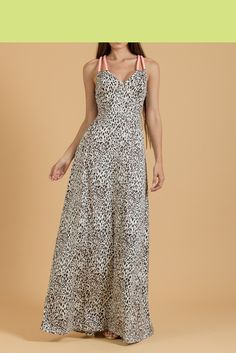 #Maxi #αέρινο #φόρεμα #animal για εντυπωσιακές εμφανίσεις.Βρείτε το στο www.primadonna.com.gr