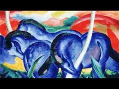 Franz Marc The Large Blue Horses art painting for sale; Shop your favorite Franz Marc The Large Blue Horses painting on canvas or frame at discount price. Franz Marc, Painted Horses, Wassily Kandinsky, Great Paintings, Animal Paintings, Horse Paintings, Art Dégénéré, Blue Rider, Horse Posters