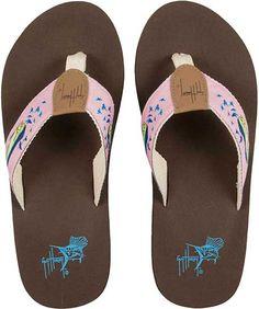 912c5e8f2d7a Guy Harvey Dolphin Ladies Sandal Best Flats