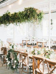 Urban fairytale wedding reception