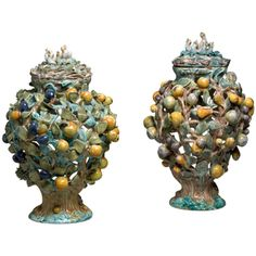 Very Rare Pair of Faience Vases and Covers | The Netherlands c. 1760