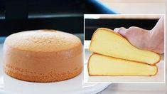 How to make Vanilla Sponge Cake / fluffy cake Recipe / Easy Cake / Genoise - Desserts Basic Sponge Cake Recipe, Vanilla Sponge Cake, Basic Cake, Sponge Cake Recipes, Easy Cake Recipes, Baking Recipes, Dessert Recipes, Food Cakes, Cupcake Cakes