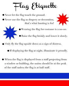 three flag pole etiquette