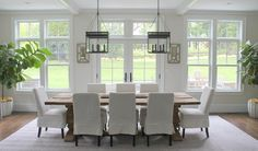 Skirted Slipcovered Dining Chairs, Transitional, Dining Room
