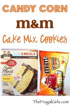 Candy Corn M&M Cake Mix Cookie
