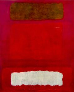 """Mark Rothko. Untitled. Oil on canvas.Rothko wrote in 1947-48: """"I think of my pictures as dramas; the shapes in the pictures are the performers. They have been created from the need for a group of actors who are able to move dramatically without embarrassment and execute gestures without shame."""""""