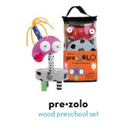 Pre•ZoLO is an all-wood stack'n'build toy
