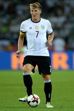 Bastian Schweinsteiger of Germany controls the ball during the international…