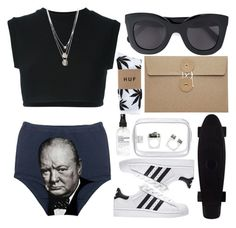 """""""No Title"""" by selinmavi ❤ liked on Polyvore featuring adidas Originals, John Lewis, CÉLINE, HUF, Gorjana and Pasionae"""