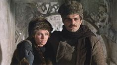 Julie Christie and Omar Sharif  Doctor Zhivago 1965 Directed by David Lean Sweeping epic about a Russian doctor pursuing the woman he loves during Russia's turbulent political changes of World War I, the Bolshevik Revolution and Communism's rise to power.