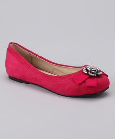 Take a look at this Fuchsia Rusky Ballet Flat by Dotty Shoes on #zulily today!