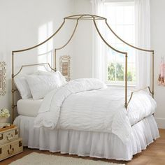 Create a Chic Glam Space with Emily u0026 Merittu0027s Pottery Barn Teen Collection & Maison Canopy Bed $699-$999 PB Teen. Nancy Guettier Senior Vice ...