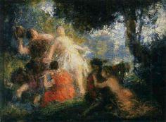 Tannhäuser (1895), painting by Henri Fantin-Latour (1836-1904), from Act 1 of Tannhäuser und der Sängerkrieg auf Wartburg (1845), by Richard Wagner (1813-1883).