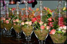 Large Apothecary Jars: Wild Bunch Studio: Coral Wedding - flowers by Wild Bunch Studio