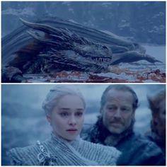 Daenerys in shock, Game of Thrones.
