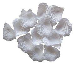 Amazon.com - Outop 1000pcs White Silk Rose Petals Artificial Flower Wedding Party Vase Decor Bridal Shower Favor Centerpieces Confetti - Floral Arranging Supplies