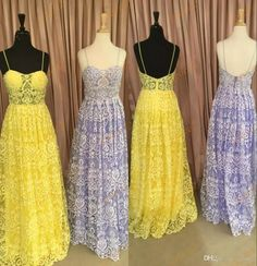 Fully Lace Prom Dresses 2017 with Spaghetti Neck And Floor Length Real Photos Lavender Dance Dress Yellow Maid of Honor Dress 2017 Prom Dresses Prom Dresses 2k17 Best Prom Dresses Online with $148.58/Piece on Grace2's Store | DHgate.com