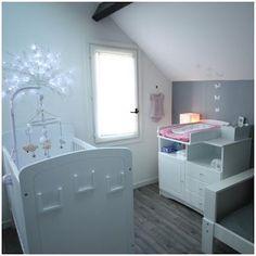 Chambre bébé rose & grise