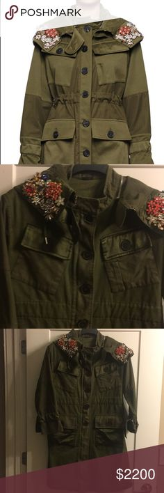 Alexander McQueen jacket Alexander McQueen patch -pockets, draw string embellished removable hood jacket . Amazing Alexander McQueen Jackets & Coats Utility Jackets