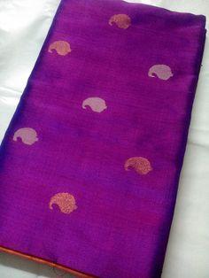 Uppada Jamdani Magenta color Silk Saree with Mango by UppadaPattu