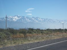 Beautiful Andes Mountains on the way from Mendoza to San Rafael Argentina!
