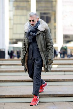 Nick Wooster Stairwalker || Streetstyle Inspiration for Men! #WORMLAND Men's Fashion