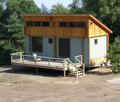 Cottage-in-a-day -- prefab, quick-build tiny homes (this blog entry is in the middle of the page when you click the link)