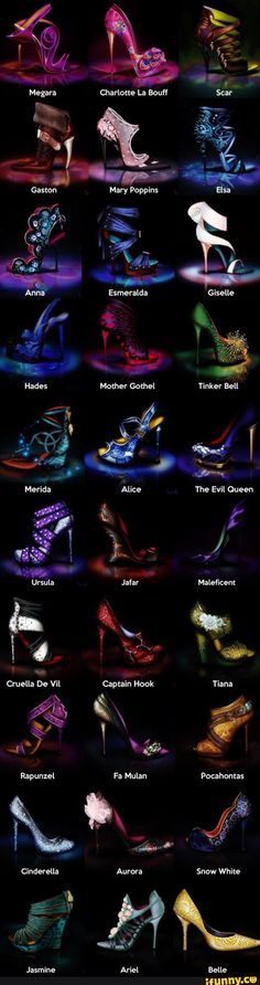 OMG Disney shoes http://skreened.com/myhearthasears/if-the-shoe-fits-villains