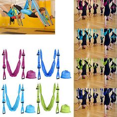 yoga props 179809  parachute flying yoga pilates aerial hammock swing trapeze anti gravity fitness yoga props 179809  anti gravity aerial yoga hammock green or blue      rh   pinterest