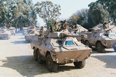 These are some of the war machines used in the conflict between the South African Defence Force and Angola, Cuba, and Umkhonto we Sizwe. South African Flag, South African Air Force, Army Vehicles, Armored Vehicles, World Tanks, Army Day, Tank Armor, Military Armor, Patton Tank