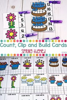 Spring Math Counting and Numbers Activities Kindergarten Coloring Pages, Kindergarten Lesson Plans, Kindergarten Activities, Learning Activities, Educational Activities, Kindergarten Teachers, Preschool, Spring Activities, Hands On Activities