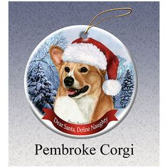 Corgi Howliday Dog Christmas Ornament