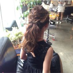 「 ヘアアレンジ 」の画像|My Style|Ameba (アメーバ) Dress Hairstyles, Party Hairstyles, Wedding Hairstyles, Wedding Hair Flowers, Flowers In Hair, Hair Design For Wedding, Hair Arrange, Hair Setting, How To Make Hair