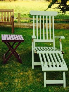 my lovely steamer chairs found them on ebay for a real steel and painted