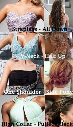 Wish I knew this for prom! I never knew how to wear my hair...this guide makes more sense of it.