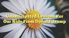 Unanticipated Lessons For Our Kids From Donald Trump - http://www.facebook.com/415612751918392/posts/986340004845661