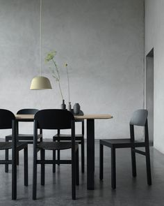 Dining settings with the Workshop Chair.