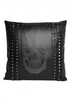 Nemesis Now Rhinestone Skull Cushion | Attitude Clothing