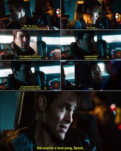 Kirk is such a sassy girl sometimes! I love it!!!!! Kirk your Chris Pine is showing!
