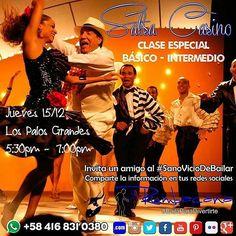 @rumbacana Hoy jueves 15/12 #Baila #SalsaCasino CLASE ESPECIAL Básico - Intermedio Los Palos Grandes 5:30pm Inversión: pregunta al whatsapp Invita un amigo al #SanoVicioDeBailar  #Rumbacana #BailaParaDivertirte #SalsaCasinoVenezuela - #regrann