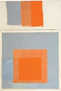 Joseph Albers - Study for Homage to the Square-Oil on blotting paper