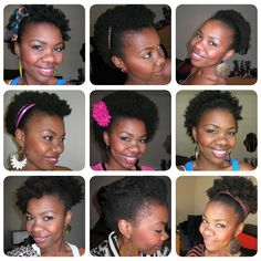 TWA styling inspiration by Aisha of My Fro & I