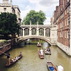 What a beautiful day in Cambridge. This is The Bridge of Sighs at St John's College.