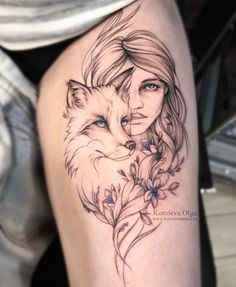 Portrait tattoos are a unique tattoo designs that mostly is popular for men. Mini Tattoos, Leg Tattoos, Black Tattoos, Body Art Tattoos, Sleeve Tattoos, Tattoo Quotes For Men, Tattoos For Guys, Tattoos For Women, Wolf Girl Tattoos