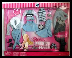 2007 Barbie Doll Clothing Fashion Fever 4 Outfits Gown Skirt Jeans Skirt Jacket | eBay